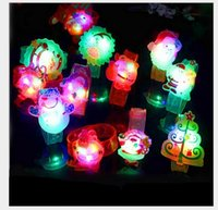 band holidays - Christmas flash bracelet Led Santa Claus soft rubber wrist band Children s holiday Props toys