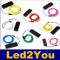 Yellow Disco 2 years 3M Flexible Led Neon Light Glow EL Wire Rope Tube Cable+Battery Controller Water Resistant LED Shoes Clothing Light