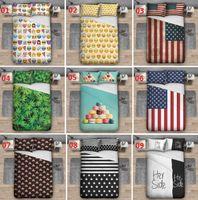 Wholesale 3D Print Bedding Set Pieces Pillowcases and Pieces Duvet Cover D Emoji Print Pieces Bedding Sets For Housewear