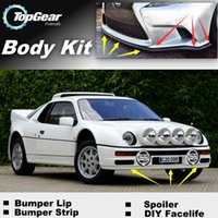 Wholesale Bumper Lip Lips For Ford RS200 Front Skirt Deflector Spoiler For Car Tuning The Stig Recommend Body Kit Strip