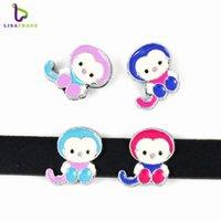 animal crossing monkey - 10PCS MM quot Monkey quot Slide Charms Fit for mm Wristband bracelet Belt Pet collar Zinc alloy LSSC23