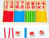 Wholesale Digital Intelligence Great Toys Montessori Math Wooden Material Color Calculation Early Education Enlightenment Toy HY752