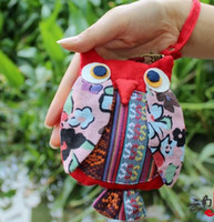 best selling purses - 2016 Best selling National Style Portable Cotton Fabric Owl Wings Coin Purses Phone Bags China s National Characteristics