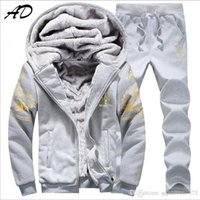 ad standard - 2016 New Spring Sportswear AD Fashion Men s Casual Sports Suit Tracksuit Man Coat Jacket Pants Male Sweatshirts Sets M XL