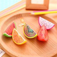 Wholesale x novelty Fruit plastic pencil sharpener pencil cutter knife korean stationery school supplies papelaria