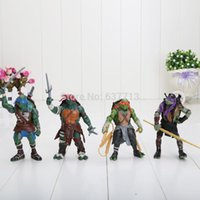 Wholesale 100Sets Anime Cartoon TMNT Teenage Mutant Ninja Turtles PVC Action Figure Toys Dolls EMS Free