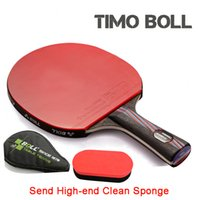 Wholesale HAND ASSEMBLE ORIGINAL BOLL Hybird Table Tennis Racket Table Tennis Bat SENDING COVER