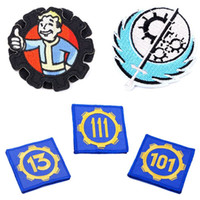 Wholesale fallout embroidery badge vault boy styles badges in stock clothing accessories for men women super cool fallout pin