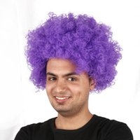 afro hair types - Euro fans send holiday revelry AFRO hair round loose type wig spot manufacturer cheerleading supplies