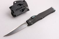Wholesale High End Microtech Tactical knife ELMAX steel HRC Satin Finish Blade Outdoor camping hiking survival knife ABS K Sheath