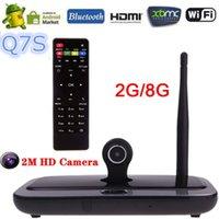 Wholesale Best Selling G GB Q7S Android TV Box Smart Media Player RK3188T Quad Core MP Camera Mic XBMC DLNA Miracast Bluetooth