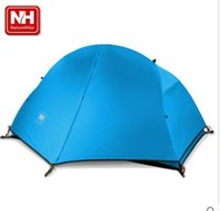 aluminum door mats - Naturehike lightweight single person aluminum pole double layer camping tent with ground mat