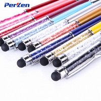 Wholesale 30pcs in Swarovski colorful Crystal Capacitive Touch Stylus Ball Pen for ipad iPhone HTC Samsung Lenovo Mi China Post Air