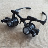 Wholesale X X X X Watch Repair Dental Loupes Binocular Glasses Style Magnifying Glass With LED Lights Eyewear Magnifier