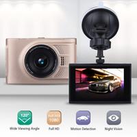 Wholesale Q7 quot LCD FHD P Car DVR Vehicle Camcorder Degree Night Vision Dash Cam Camera Digital Video Recorder Golden Black