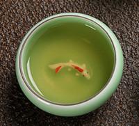 Wholesale 5Pcs Porcelain Ceramic Long Quan Fine Celadon Teacup Fish Goldfish Carp Pattern