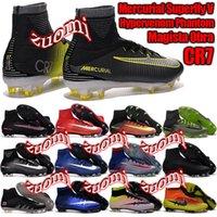 al por mayor hypervenom-2016 nuevos zapatos original superior al aire libre Mercurial Superfly VI FG CR7 fútbol de CHARLIN Magista Obra balompié de los cargadores Hypervenom II Botines de fútbol