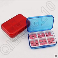 Wholesale 500pcs CCA4161 High Quality Candy Color Portable Eco friendly Cell Pill Box Travel Medicine Cases Pill Storage Case Refillable Box Splitter