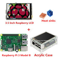 Wholesale 2016 Raspberry Pi Model B Inch Raspberry LCD TFT Acrylic Case Heat sinks For Raspbery Pi Kit