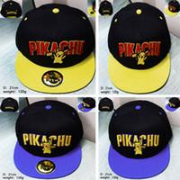 action figure protection - DHL Unisex New Poke Pikachu Baseball Hats Caps Cartoon Action Figure Snapbacks Hats Hip Hop Ball Caps Sun Protection Hats WX H13