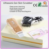 Wholesale Galvanic Spa Ultrasonic Ion Cleansing Pores Deadskin Removal Face And Body Skin Scrub Beauty Cleaner Machine
