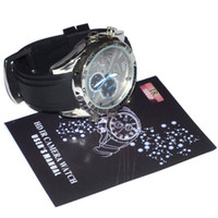 Wholesale Hd p Mini Waterproof Camcorders Camera Hidden Watch Spy DVR gb with Ir Night Vision
