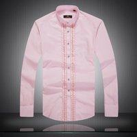 shirts for men italian - high quality autumn Italian style fashion designer man kleding long sleeved shirts quality cotton casual blouse slim fit shirt for man