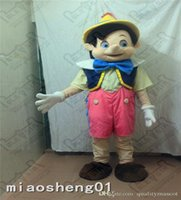 adult pinocchio costume - 2016 Professional Pinocchio Mascot Costume Adult Size Fairy Tale Characters Mascotte Outfit Suit Party Fancy Dress EMS