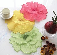 Wholesale European art embroidery plate MATS table decoration mat shooting props corn poppy pattern