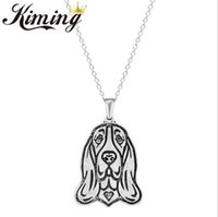 basset dogs - 10 Kiming basset dog ancient color restoring ancient ways head necklace pendant animals classic men s and women s accessories