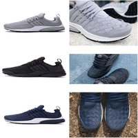 arriva box - New Arriva Drop Shipping Cheap Famous Air Presto SE Woven All Black Wolf Grey Men Running Shoes Max Sneaker Trainers size