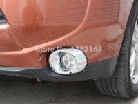 auto head lights mitsubishi - Car head fog light cover auto front fog light bezel for mitsubishi outlander ABS chrome pc bezel gold