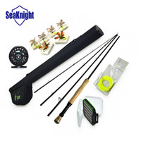 Wholesale Many Free Gift today Fiber Fly Rod Reel Combo FT Rod and Fly Fishing Reels Aluminum and Rod Reel Tube Case and Fly Line