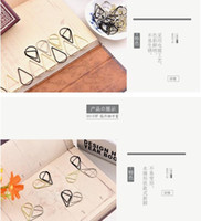 Wholesale Metal Drop Shape Paper Clips gold silver color funny kawaii bookmark office shool stationery marking clips
