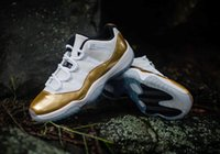 Wholesale 2016 Olympic Themed Air Low Metallic Gold AIR Retro LOW Joins the Rio Summer Olympics celebration with the release size