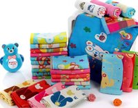 Wholesale 25pcs High quality Pure cotton children baby wash a face towel wipes small towel bath towel