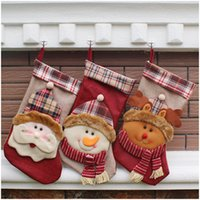 act socks - The new Christmas items gift bags hang Christmas decorating gift bags Socks hang act the role of large Christmas stockings