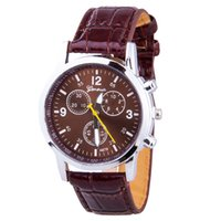 Wholesale Hot sale Geneva Fashion Watches Women Men Dress Watch Quartz PU Leather Casual Watch clock sports outdoor wristwatches For Mens Woman Gift