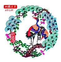Wholesale Diameter Multicolor Handmade Paper Cutting Hand Painted Paper cut for Window Decoration Chinese traditional color paper cutting