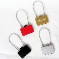 Wholesale Multifunctional long rope wire lock mini security cabinet dormitory trip travel luggage padlock backpack