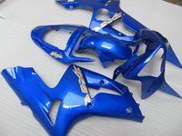 Wholesale 3 Free Gifts New Fitment ABS motorcycle Fairing set for kawasaki Ninja ZX6R R nice blue glossy