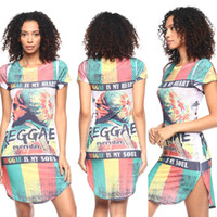 Night Out & Club Mini Dresses Summer 2016 Sexy African women Digital Printing Short Sleeved Dress Casal Wear Vintage Vestido Famel Dress Party Evening Art African Women Dress