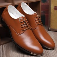 Cheap Hot Sale Spring British fashion leather shoes business formal pointed toe Dress Shoes oxford