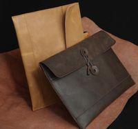 Vera Pelle dei nuovi uomini Retro frizione portafoglio della cartella del sacchetto borsa