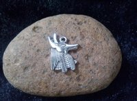 anubis egyptian - 50pcs x15mm Egyptian Anubis Jackal God Charm Accessories Vintage Antique Silver Pendant DIY Bracelet Necklace Jewelry Making