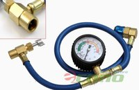 ac recharge gauge - w Gauge System R134a AC HVAC ReCharge Measuring Refrigerant Hose Can Tap R134a Quick Adapter