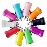Wholesale For Iphone7 USB Car Charger Colorful Bullet Mini Car Charge Portable Charger Universal Adapter For Iphone