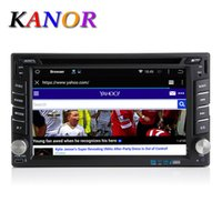 Wholesale Kanor Quad Core Capacitive Din Android Car DVD Audio Stereo Radio With GPS G WiFi Universal GPS Navigation Head Unit