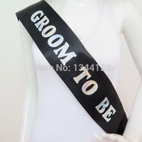 bachelor party gifts - GROOM TO BE sash for wedding events gifts metaliic for bachelor party hens night supplies event party favor wedding