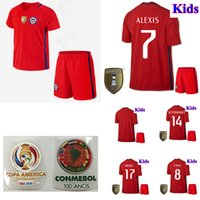 best casual shirts - 2016 Chile Soccer Jersey kids boys best gift camisetas de futbol SANCHEZ VALDIVIA MEDEL VIDAL Home Red away Football ALEXIS shirts